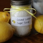 Coconut Lemon Sugar Scrub in a Jar