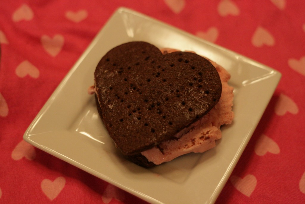 Chocolate Covered Strawberry Ice Cream Sandwich