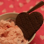 Strawberry Ice Cream and Chocolate Wafer Cookies