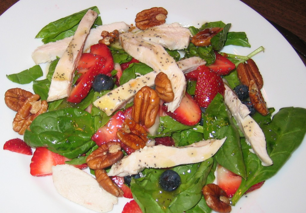 Berry Pecan Poppyseed Salad
