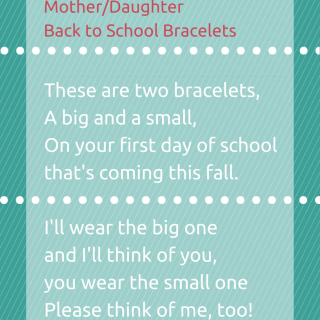 Mother/Daughter Back to School Bracelets