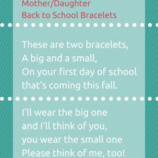 Mother/Daughter Back to School Bracelets
