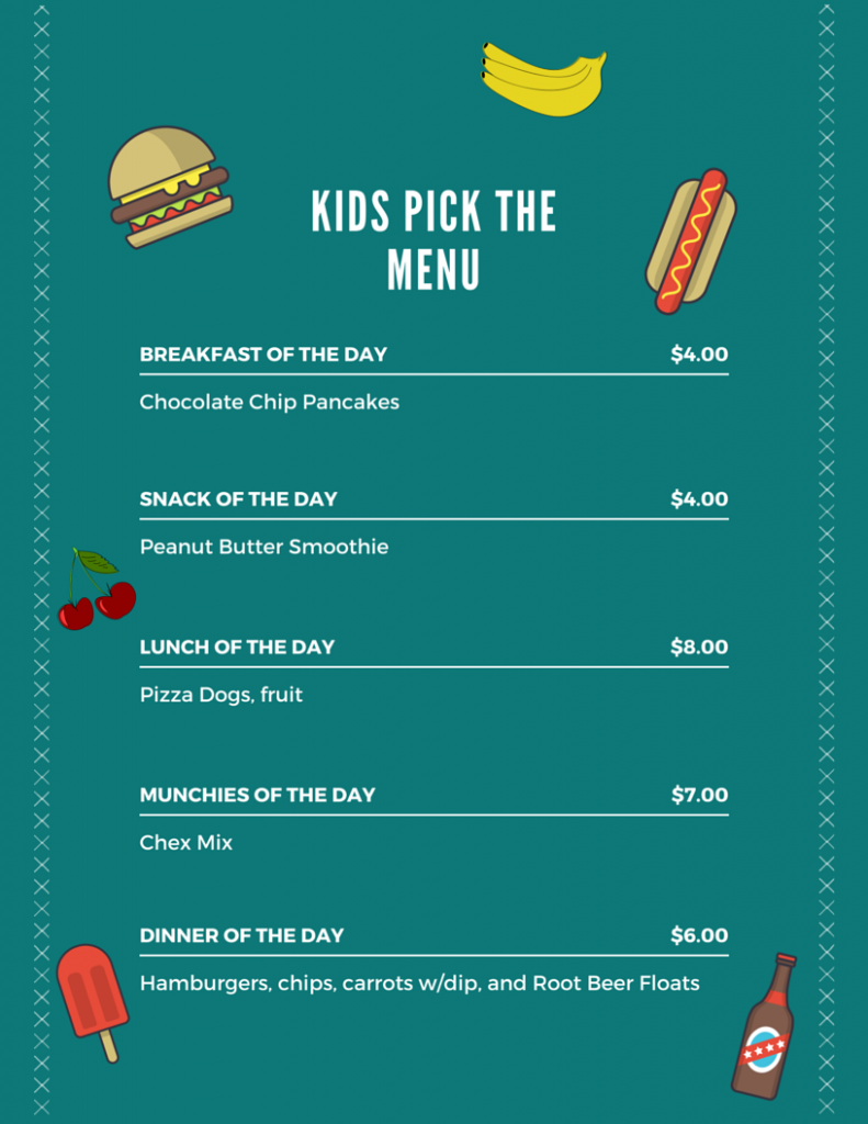 Kids Pick the Menu