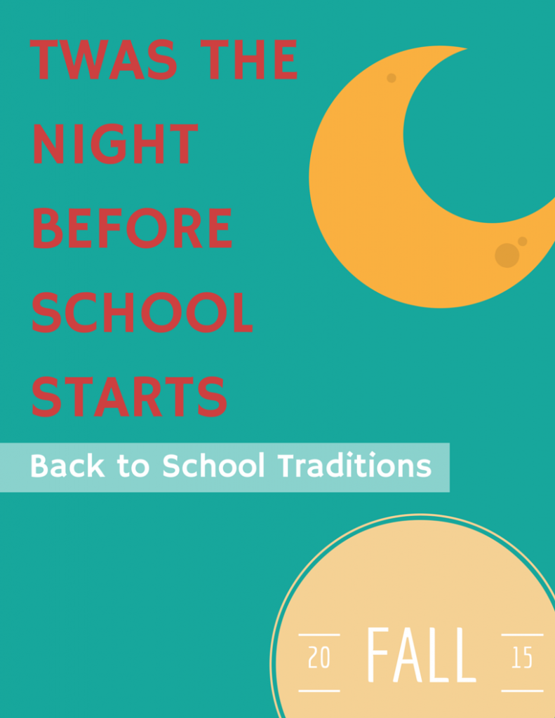 Creating memorable back to school traditions