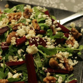 Domestic Dreamboat's Roasted Beet with Candied Walnut Salad