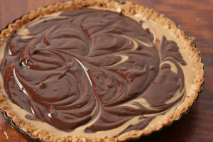 Made easy with cookie dough crust you buy from the store, made amazing with chocolate