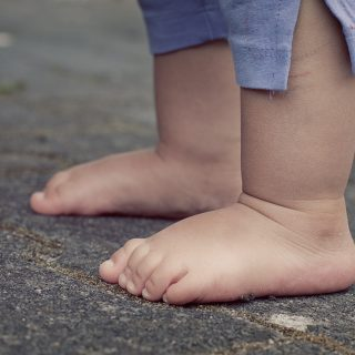 bare footed toddler feet