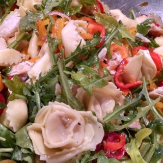 Cheese and Chicken Tortellini Salad