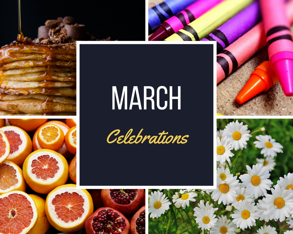 March Celebrations Collage